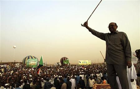 Republic of Sudan President Omar Hassan al-Bashir addressing a crowd in North Khartoum. Sudan has been a target of the United States for many years. by Pan-African News Wire File Photos