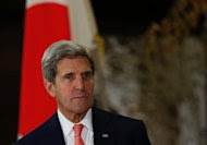 US Secretary of State John Kerry attends a press conference in Tokyo, on October 3, 2013