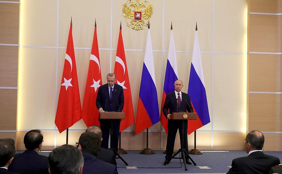 Dopo i colloqui russo-turchi, Vladimir Putin e Recep Tayyip Erdogan hanno rilasciato dichiarazioni alla stampa.