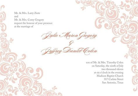 Formal Invitation Template Download