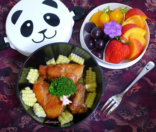 Honey Soy Ginger Baked Chicken Bento by sherimiya ♥