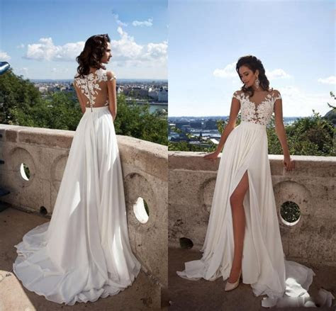 Aliexpress.com : Buy White Ivory Beach Wedding Dresses