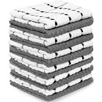 """Royal Kitchen Towels, 12 Pack - 100% Soft Cotton -15"""" x 25"""" - Dobby Weave -Great for Cooking in Kitchen and Household Clean"""