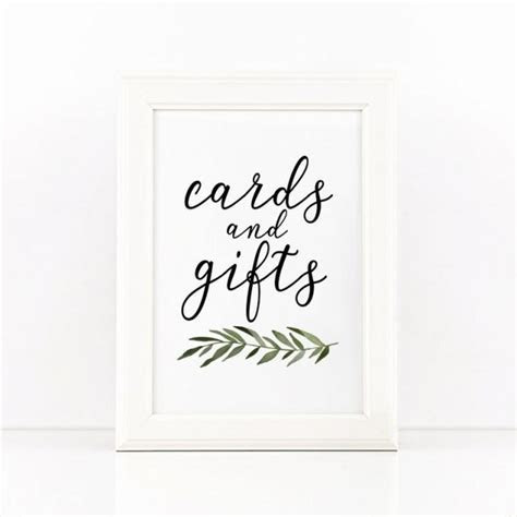 Cards And Gifts Printable Wedding Sign, Cards And Gifts