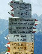 I cartelli in lingua tedesca