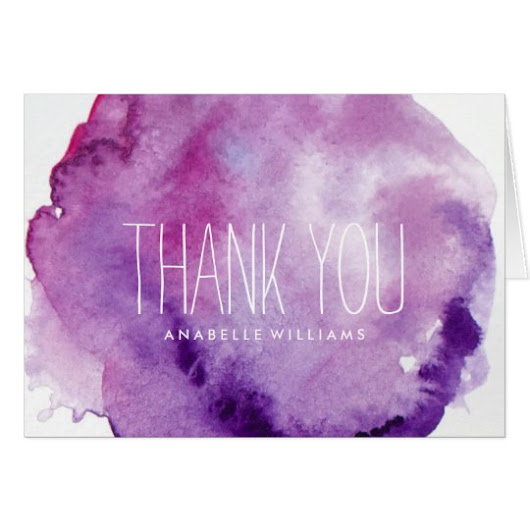 Elegant Purple Watercolor Wash Card