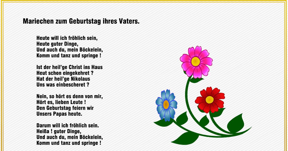 Geburtstag Gedicht Für Papa Von Tochter