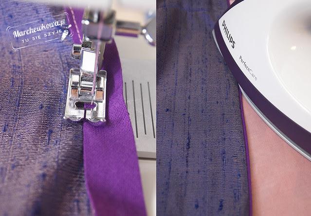 marchewkowa, szyciowy blog roku 2012, szycie, tutorial, instrukcja, podszywanie brzegu spódnicy tasiemką, lamówka