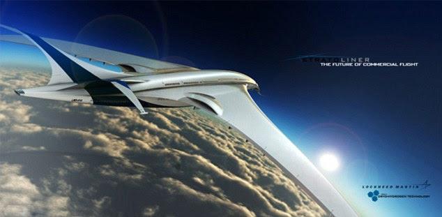 """El Stratoliner que volar a alturas por encima de aviones comerciales - con sus alas de forma inusual para """"levantar"""""""