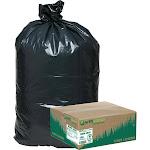 Earthsense Recycled Star Bottom Trash Bags 40-45 gal Black 100ct WBI RNW4850