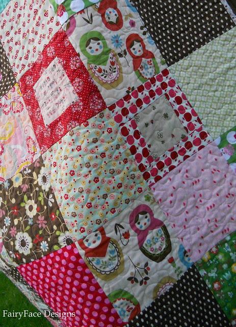 Matryoshka quilt front detail 2