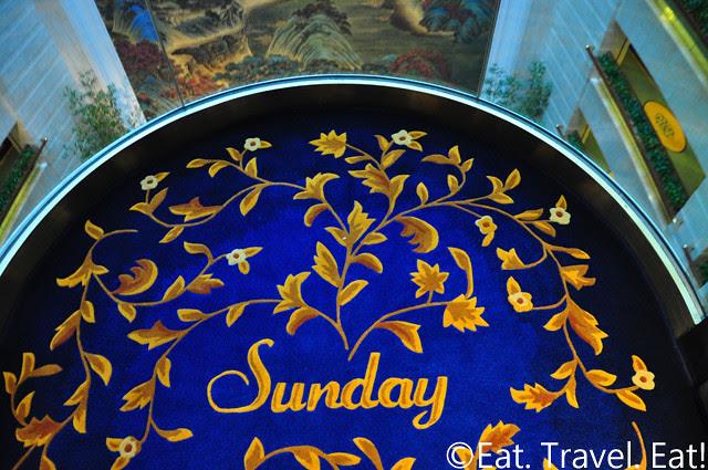 Island Shangri-La: Day of the Week Carpet