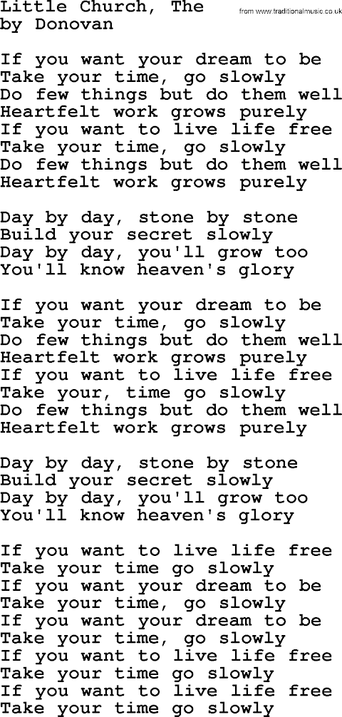 If You Want Your Dream To Be Lyrics
