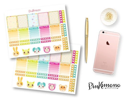 Kawaii Planner Stickers by PinkimonoPapers on Etsy