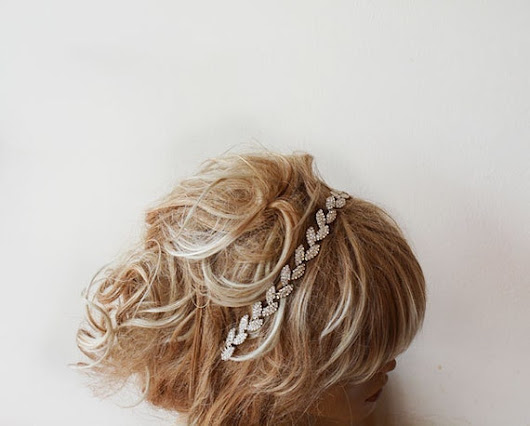 Bridal Headband Wedding Headband Bridal Rhinestone by ADbrdal