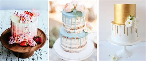 Wedding Cake Trends: Marble, Dripping and Watercolour