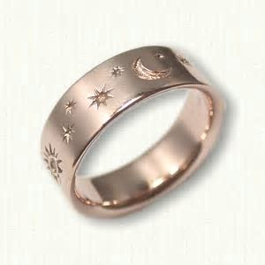 Astrology wedding rings   affordable zodiac jewelry