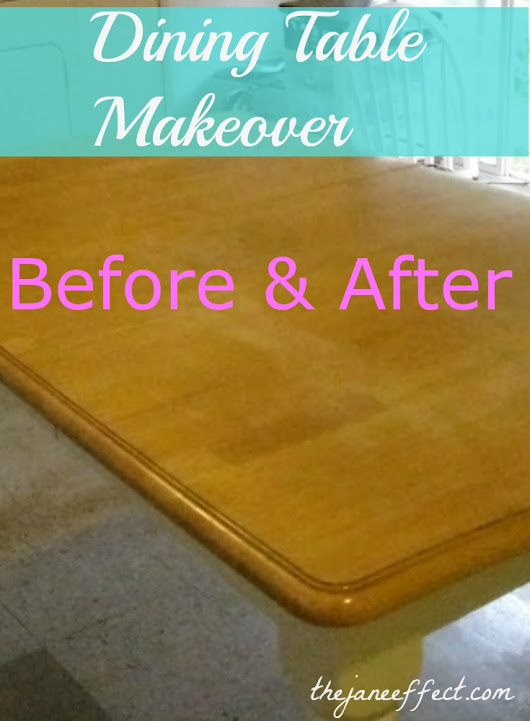 Table Makeover – Before & After