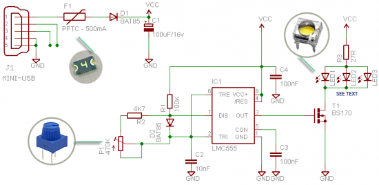selfie light circuit