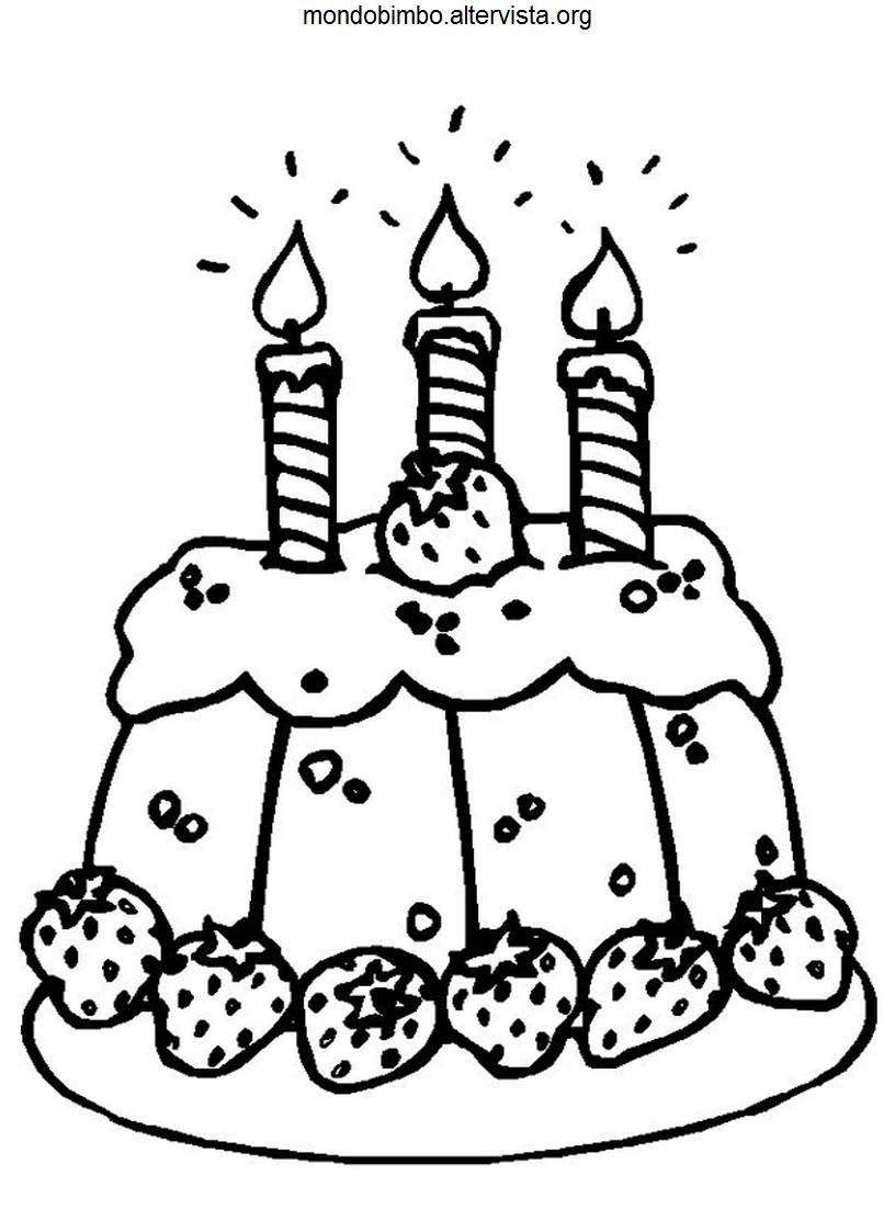 Torte Di Compleanno Da Colorare Mondo Bimbo