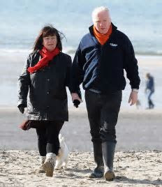 Newlywed Dawn French pictured for the first time since