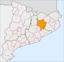 Localització d'Osona respecte Catalunya