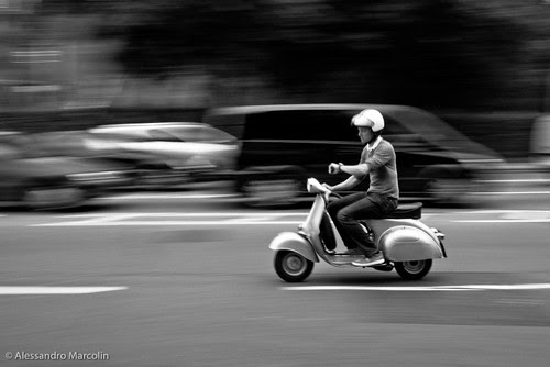 Late on the Vespa by aless marcolin
