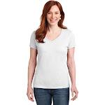 Hanes Ladies Nano-T Cotton V-Neck T-Shirt S04V - White