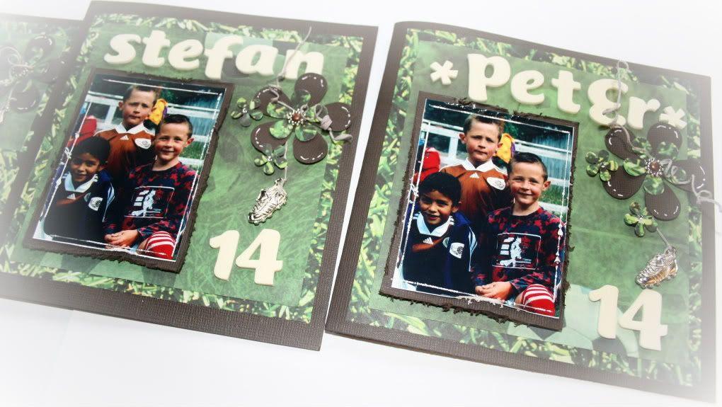 Detaljer fra tvillingene Stefan og Peter sine kort