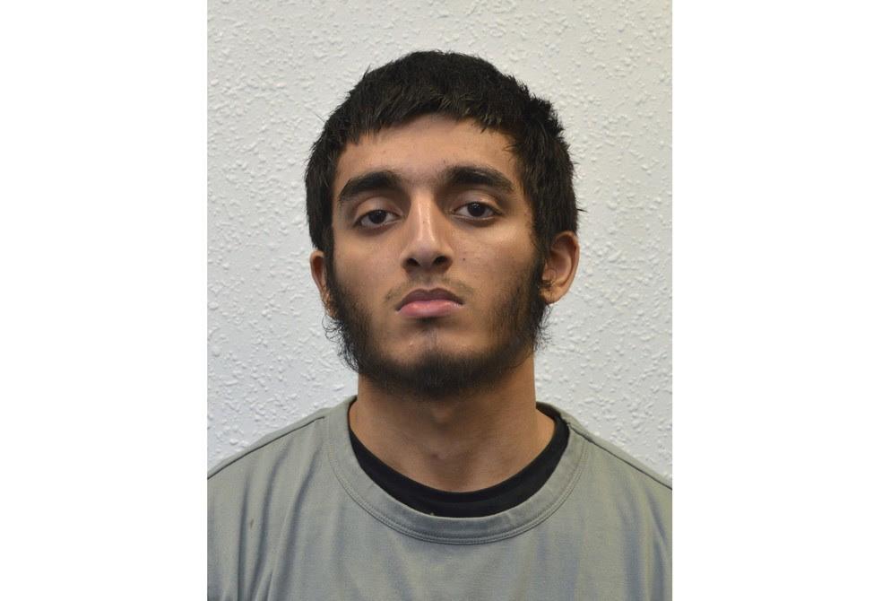 Haroon Syed, de 19 anos, foi condenado por planejar atentado em show de Elton John em 2016 (Foto: Metropolitan Police via AP)