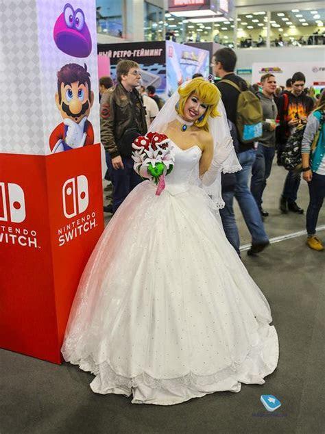 Princess Peach Wedding Mario Odissey Handmade Cosplay Dress