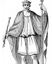 St. Albert's father, Ethelwulf of Wessex.