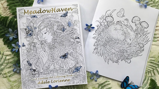 MeadowHaven: A Fantasy Art Coloring Book by Adele Lorienne