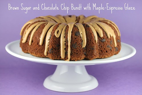 Brown Sugar and Chocolate Chip Bundt with Maple-Espresso Glaze - I Like Big Bundts