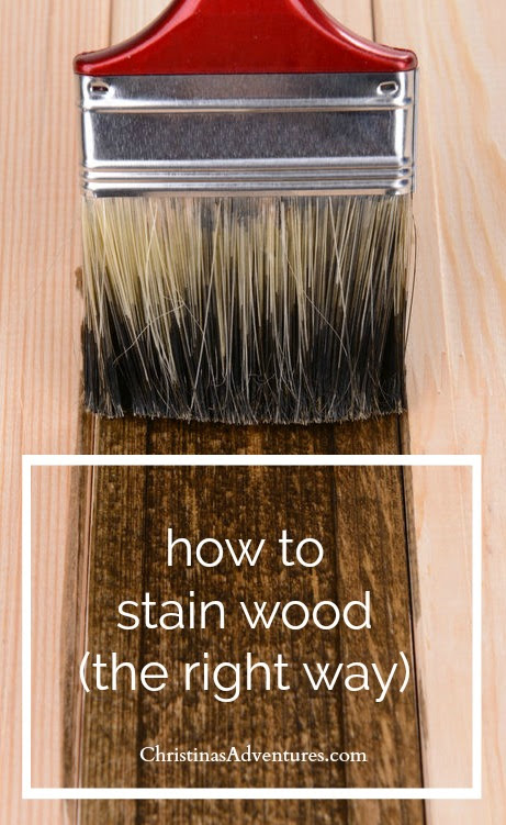 How to stain wood [woodworking tips for DIYers] - Christinas Adventures
