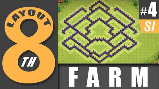 layout cv 8 farm 4 town hall level 8 farm 4 clash of clans - Layout Cv 4 Guerra