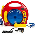 IQ Toys Portable Sing Along CD-USB-SD Player Anti Skip, with 2 Microphones & AC Adapter