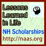 Lessons Learned in Life Scholarships for New Hampshire students