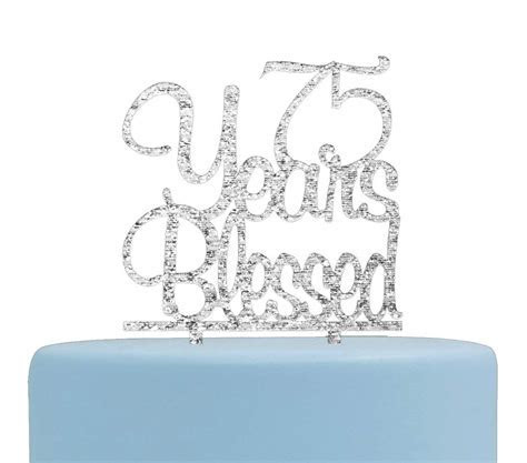 Amazon.com: 75 Years Blessed Banner 75th Birthday ,Wedding
