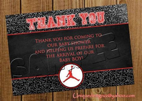 Michael Jordan Baby Shower Thank You Cards by