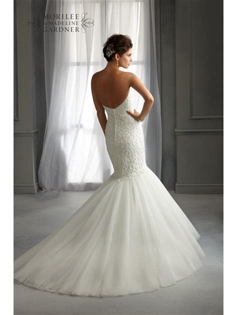 Mori Lee 5272 Mermaid Style Wedding Dress Ivory