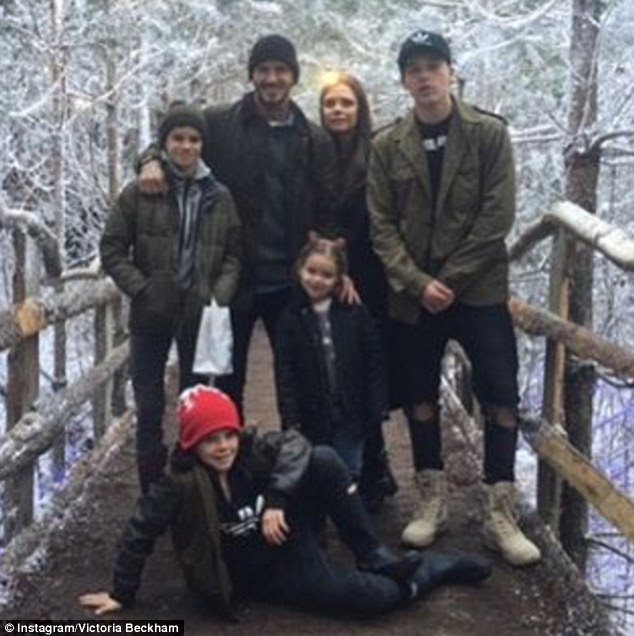 Happy Christmas from the Beckhams! David, Victoria, Brooklyn, Romeo, Cruz and Harper offered fans a glimpse of their magical winter wonderland Christmas on Friday morning
