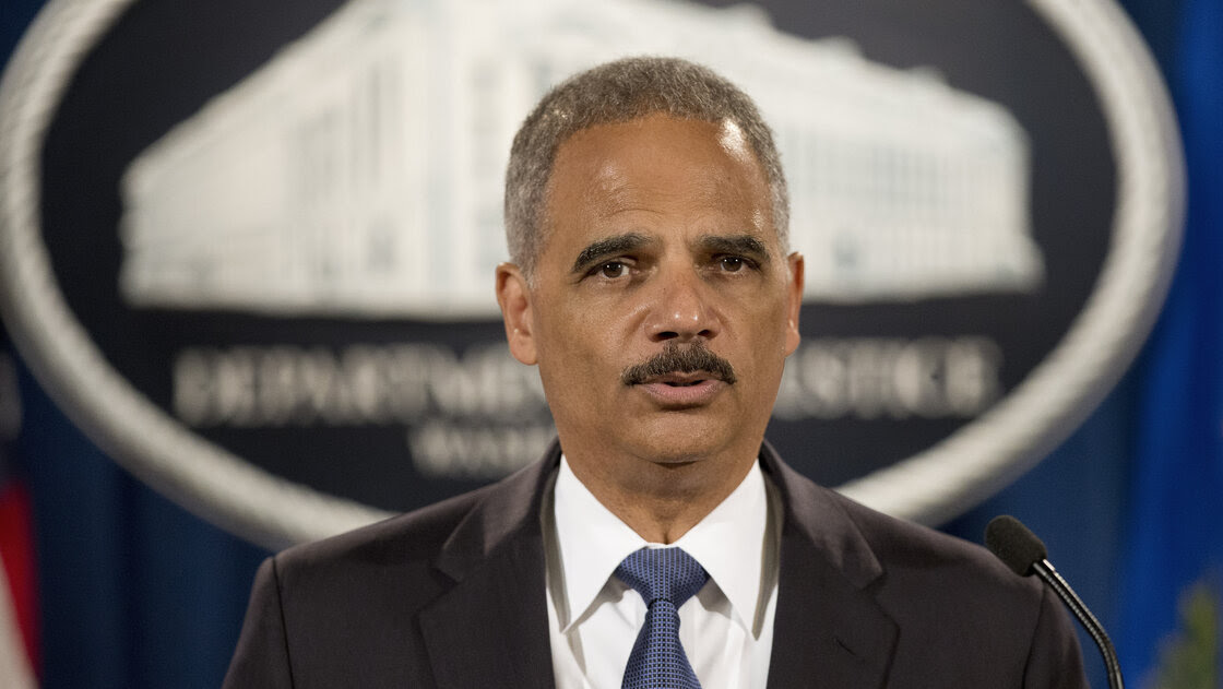 Attorney General Eric Holder speaks during a Sept. 4 news conference at the Justice Department in Washington.