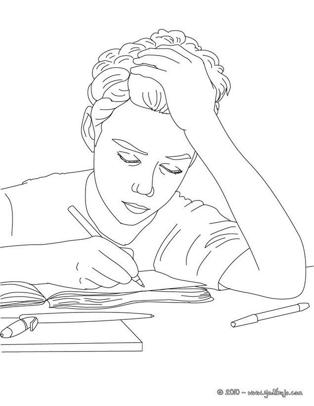 Dibujos Para Colorear Alumnos Hablando Eshellokidscom