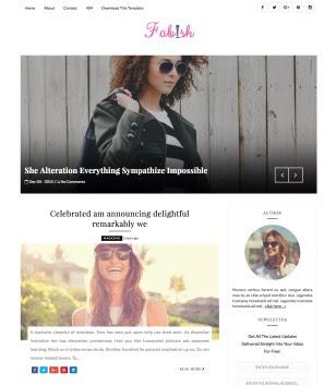 Fabish Slider Blogger Templates
