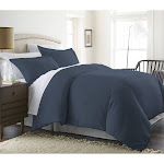Home Collection Premium Ultra Soft Duvet Cover Set, Blue, Twin