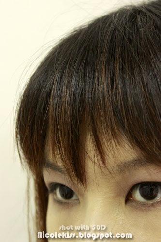 close up eye and bang