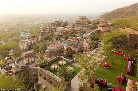 Inside the stunning 15th century Neemrana Fort Palace