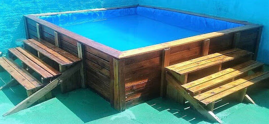 Recycled Wood Pallet Pool Project