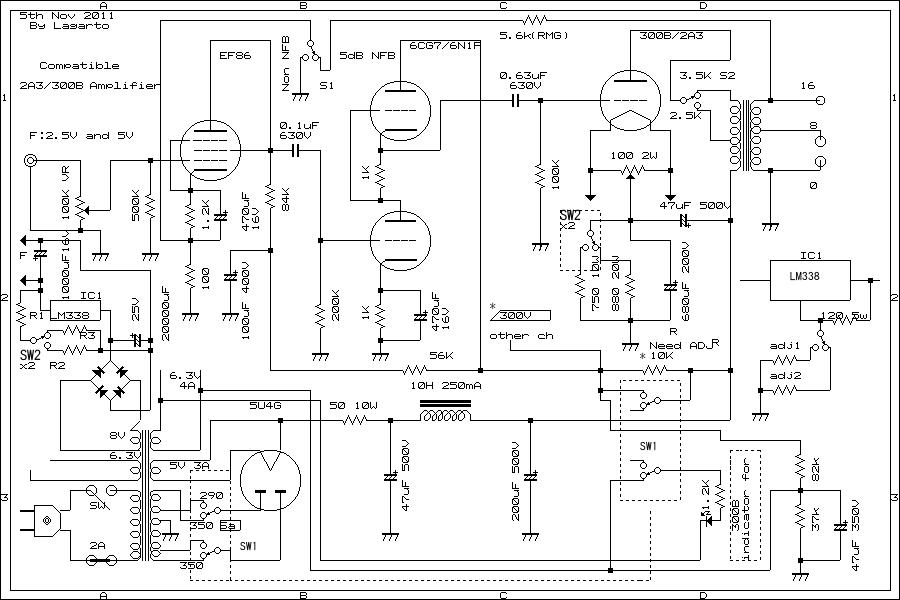 draw your wiring   sakura amp circuit